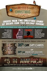 Christmas in Branson at Escape Code