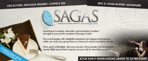 Sagas | Immersive Mystery Events by Escape Code in Branson, Missouri