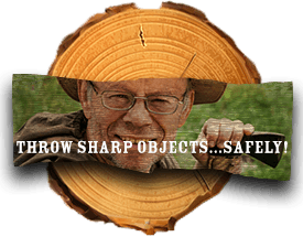 Throw sharp objects safely.
