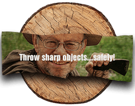 Throw sharp objects safely