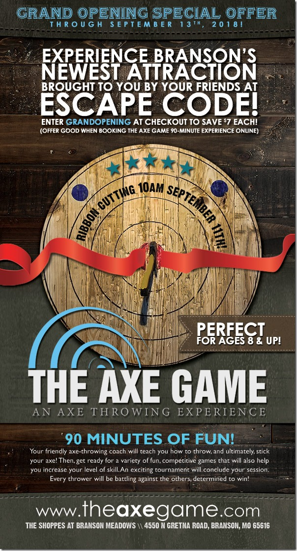 The Axe Game Chamber Ribbon Cutting Ad